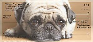 Faithful Friends Pug Personal Checks
